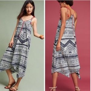 Anthropologie Bohemian Tassel Asymmetrical Dress M